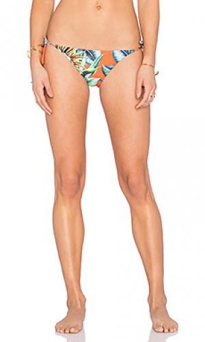 Двусторонние плавки бикини с завязками по бокам Mara Hoffman. Цвет: оранжевый