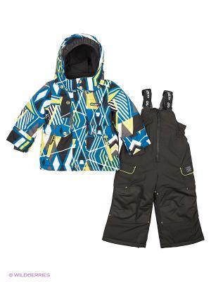 Комплект одежды Gusti. Цвет: бирюзовый, желтый, белый, черный