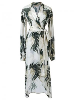 Пляжный халат Adriana Degreas. Цвет: телесный
