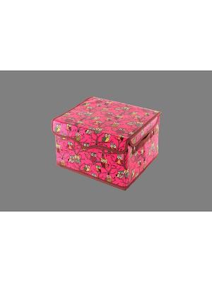Кофр складной для хранения Совы на розовом EL CASA. Цвет: розовый