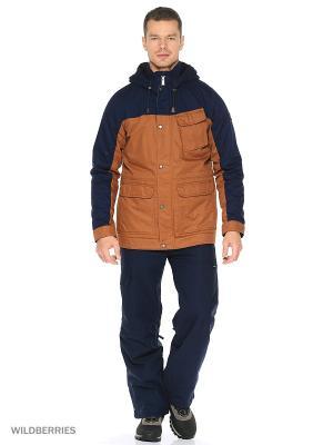 Куртка O'Neill. Цвет: синий, коричневый