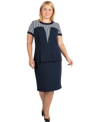 Платье Alego. Цвет: синий