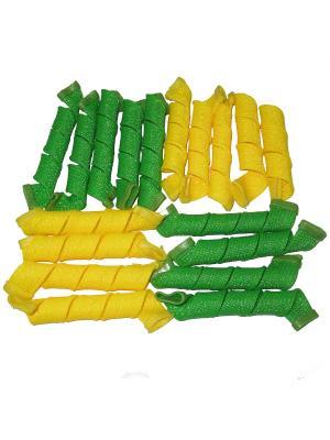 Magic Leverage Бигуди Средние, длина 25 см, ширина 2 18 шт.. Цвет: желтый