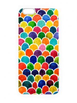Чехол для iPhone 6 Цветные соты Chocopony. Цвет: темно-синий, темно-зеленый, белый