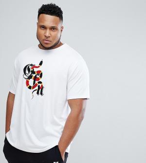 Good For Nothing Белая футболка с логотипом PLUS эксклюзивно для ASOS. Цвет: белый