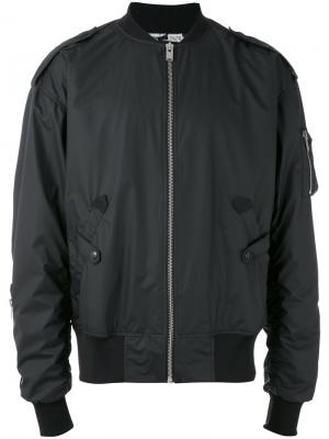 Куртка-бомбер с принтом логотипа Misbhv. Цвет: серый