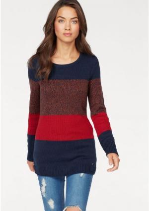 Пуловер AJC. Цвет: темно-синий/красный меланжевый