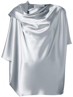 Драпированная блузка Gianluca Capannolo. Цвет: серый