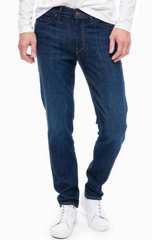 Зауженные джинсы с заломами Marc O'Polo. Цвет: синий