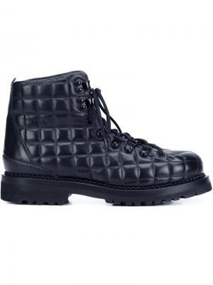 Стеганые ботинки Buttero. Цвет: синий