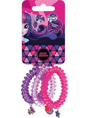 Набор аксессуаров для волос Пружинка Daisy Design. Цвет: розовый