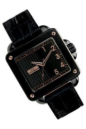 Часы кварцевые Moschino. Цвет: черный