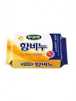 Набор MKH Хозяйственное мыло с отдушкой, 230 гр. 2 штуки Mukunghwa. Цвет: желтый