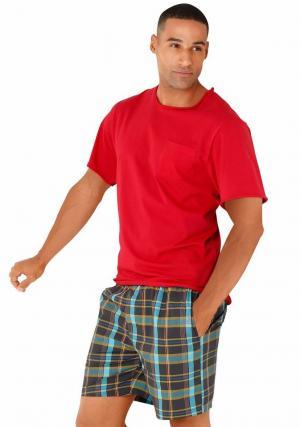 Пижама с шортами Otto. Цвет: красный