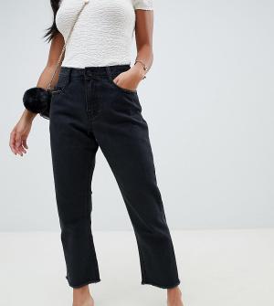 Missguided Petite Wrath Straight Leg Jeans. Цвет: черный
