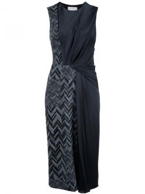 Платье миди с узором-елочкой Jason Wu. Цвет: чёрный