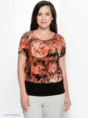 Блузка Klimini. Цвет: оранжевый