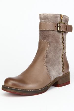 Ботинки утепленные, байка OSSO. Цвет: серый