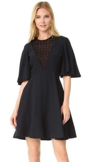 Платье с короткими рукавами Giambattista Valli. Цвет: голубой