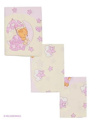 Комплект Мишкин сон Сонный гномик. Цвет: розовый, желтый