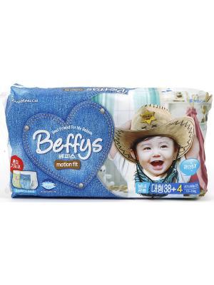 Подгузники-трусики Beffys motion fit для детей размер L (10-14 кг.) 42 шт. Beffy's. Цвет: синий