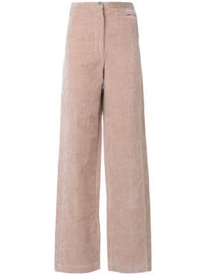 Мягкие брюки с завышенной талией Lemaire. Цвет: розовый и фиолетовый