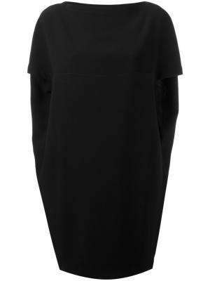 Платье мини с драпировкой Gianluca Capannolo. Цвет: чёрный
