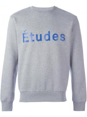 Толстовка с принтом логотипа Études. Цвет: серый