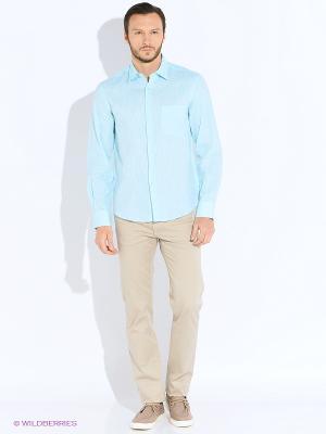 Рубашка Greg Horman. Цвет: бирюзовый