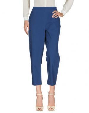 Повседневные брюки ODEEH. Цвет: синий