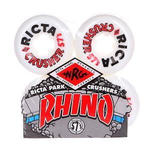 Колеса для скейтборда  Rhino Pro Crushers White 83B Ricta. Цвет: белый