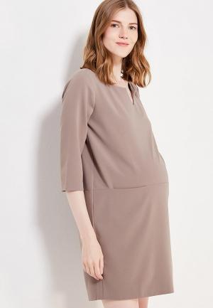 Платье 9fashion Woman. Цвет: коричневый