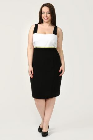 Платье GOLD. Цвет: белый, черный, лайм