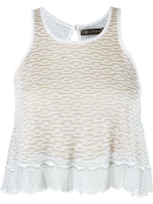 Вязаная блузка Cecilia Prado. Цвет: серый