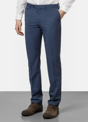 Однотонные брюки OSTIN. Цвет: пыльно-голубой
