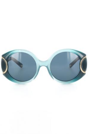 Очки солнцезащитные Salvatore Ferragamo. Цвет: морская волна