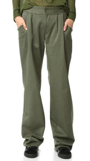 Холщовые брюки Baja East. Цвет: оливковый