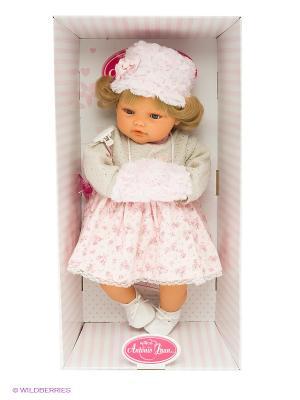 Кукла Белла в белом, плачущая, 42 см Antonio Juan. Цвет: розовый