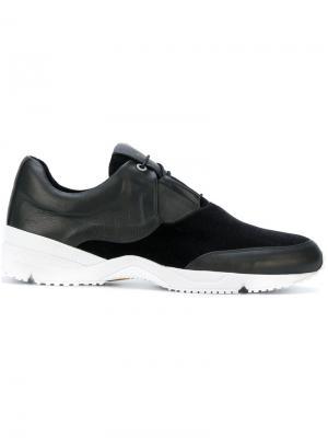 Кроссовки с контрастной подошвой Wooyoungmi. Цвет: чёрный