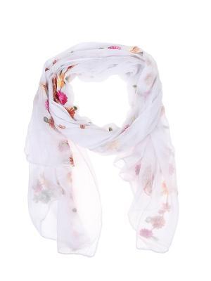 Палантин Migura. Цвет: белый, зеленый, розовый