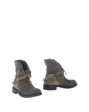 Полусапоги и высокие ботинки OCA-LOCA. Цвет: свинцово-серый