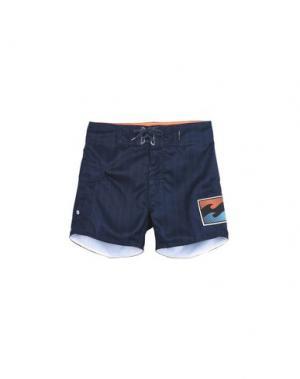 Пляжные брюки и шорты BILLABONG. Цвет: темно-синий