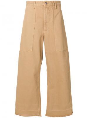 Широкие брюки с завышенной талией Golden Goose Deluxe Brand. Цвет: коричневый