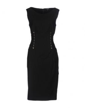 Платье до колена DENNY ROSE. Цвет: черный