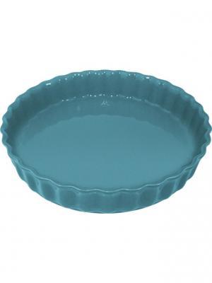 Блюдо для пирога 28х28х5 см Appolia. Цвет: лазурный