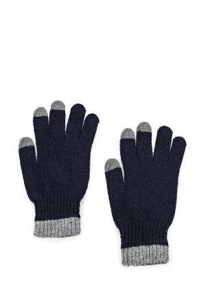 Перчатки Piazza Italia. Цвет: синий