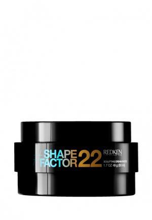 Крем-паста Shape Factor 22 Redken. Цвет: черный