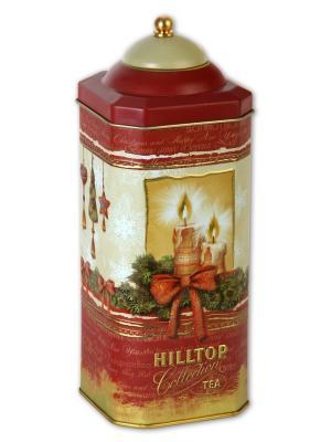 Чай Hilltop высокая 8-гран банка Рождественская ночь Рождественский 125г.. Цвет: черный
