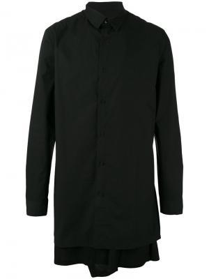 Long layered shirt D.Gnak. Цвет: чёрный