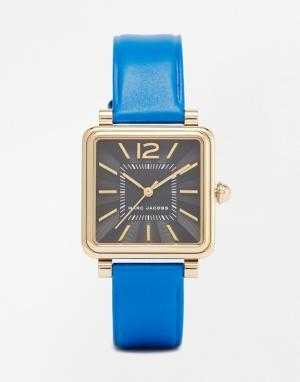 Marc Jacobs Часы с темно-синим ремешком Vic MJ1438. Цвет: синий